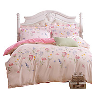 Mingjie Wonderful Pink Flowers Bedding Sets 4PCS for Twin Full Queen King Size from China Contian 1 Duvet Cover 1 Flatsheet 2 Pillowcases