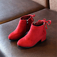 Girl's Boots Fall Winter Other Suede Casual Low Heel Others Black Green Red Other