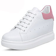 Women's Athletic Shoes Summer Fall Winter Platform Leatherette Outdoor Office & Career Casual Wedge Heel Platform Lace-up Black Pink White