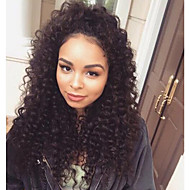 120% suuren tiheyden liimattoman Nyörilliset hiuksista peruukit kanssa vauvan hiukset Nyörilliset peruukki mustien naisten syvä kihara