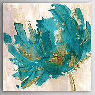 Hand-Painted Abstract Flower  Canvas Oil Painting With Stretcher For Home Decoration Ready to Hang