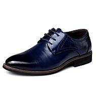 Kényelmes Formai cipő-Alacsony-Férfi-Félcipők-Irodai Alkalmi-Bőr-Fekete Kék Barna Sárga