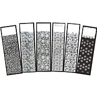 6pcs Nail Art Sticker Lace adesivo Folha Tape Stripping maquiagem Cosméticos Prego Design Arte