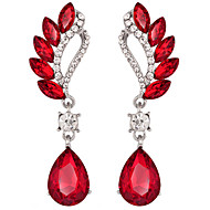 Drop Earrings Amethyst Crystal Simulated Diamond Purple Red Jewelry Wedding Party Daily 1 pair