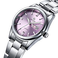 Women's Fashion Watch Water Resistant / Water Proof Quartz Stainless Steel Band Charm Casual Luxury Silver Strap Watch