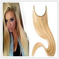transporte rápido comprimento 1pc grau superior 14inch-32inch 8a extensões de cabelo humano brasileiro virar em extensões do cabelo