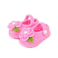 Barn Baby Jente Flate sko Polyester Vår Høst Avslappet Perle Flat hæl Oransje Fuksia Rosa Flat