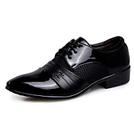Men's Oxfords Spring Fall Novelty Bullock shoes Formal Shoes PU Wedding Casual Party & Evening Flat Heel Sequin Lace-up Black Brown Other