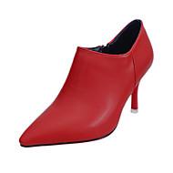 Homme-Décontracté-Noir Rouge Gris-Talon Aiguille-Confort-Chaussures à Talons-Croûte de Cuir