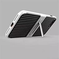 のために スタンド付き ケース バックカバー ケース ソリッドカラー ハード カーボンファイバー のために Apple iPhone 7プラス iPhone 7 iPhone 6s Plus/6 Plus iPhone 6s/6 iPhone SE/5s/5