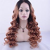 9 א כיתת תחרת שיער בתולה פרואנית גל שיער פזור מול פאת שני טון Ombre שיער בתולה אדם צבע שחור / בלונדיני עבור אשת אופנה