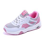 Sportssko-PUDamer-Sort Lys pink-Fritid Sport-Lav hæl