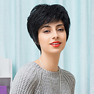 Newest Slightly Texture Short Capless Wigs Natural Wavy Human Hair
