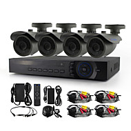 YanSe® 4 Channel 720P 1200TVL Wired Shooting CCTV Camera DVR Kit IR Color Waterproof Security Cameras System 1.0MP AHD-M