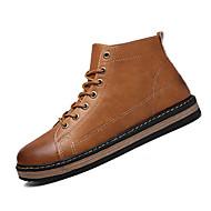 Bootsit-Tasapohja-Miesten-PU-Musta Ruskea Keltainen-Urheilu-Comfort