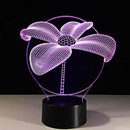 1db lótusz színes látás sztereó LED lámpa 3d lámpa fény színes gradiens akril lámpa éjszakai fény látás