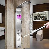 Zeitgenössisch Duschsystem Wasserfall Breite spary Handdusche inklusive with  Keramisches Ventil Einzigen Handgriff Zwei Löcher for