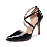 Women's Heels Spring Summer Fall Patent Leather Office & Career Casual Party & Evening Stiletto Heel White Black Yellow Blushing Pink Nude