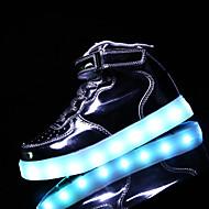 Sneakers-PU-Komfort-Drenge-Sort Rosa Hvid Guld-Udendørs Fritid-Flad hæl