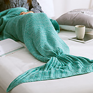 Knitted,Yarn-dyed Solid 100% Acrylic Blankets