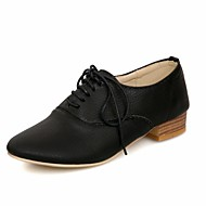 נשים-נעלי אוקספורד-סינטתי עור פטנט דמוי עור PU-אחר נוחות חדשני רצועה אחורית-שחור כחול צהוב לבן Almond-חתונה משרד ועבודה שמלה מסיבה וערב-