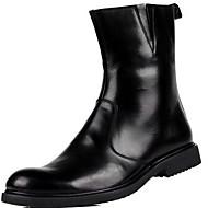 גברים-מגפיים-עור-אחר-שחור חום-שטח יומיומי