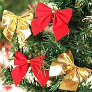ornamenty Etikety Neosvětlené Květiny Vánoční dekorace