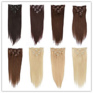 moda kobiet przedłużanie włosów nieprzetworzone najwyższej jakości brazylijskich dziewiczych włosów clip in pasemka włosów 100% ludzkie