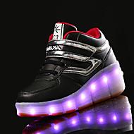 לבנות-נעלי ספורט-PU-נוחות-כחול ירוק ורוד אדום לבן-יומיומי-פלטפורמה