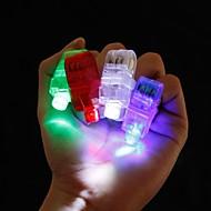 4db vezetett ujj gyűrű gerenda fél szórakozóhely gadget izzás lézerfény