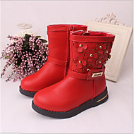 Girl's Boots Fall Winter Other PU Outdoor Casual Wedge Heel Applique
