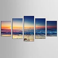 Canvas Set Beroemd Landschap Realisme Modern,Vijf panelen Canvas Elke vorm Print Art wall Decor For Huisdecoratie
