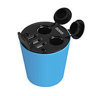 cargador de coche hasmine cinco puertos de toma de cargador de coche adaptador USB