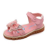 Za djevojčice Sandale Proljeće Jesen Zima Udobne cipele PU Ležeran Niska potpetica Mat selotejp Ružičasta Crvena Bijela Ostalo