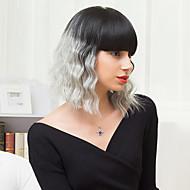 la mode coiffures bob capless perruques ombre onduleux naturel mêle cheveux humains