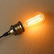 25W st58 Edison žarulje sa žarnom niti 19 E27 svilene vertikalna žica retro dekorativne žarulje