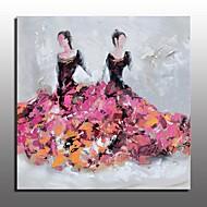 Kézzel festett Absztrakt Emberek Festmények,Európai stílus Modern Egy elem Vászon Hang festett olajfestmény For lakberendezési