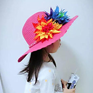 Tyttöjen Hatut ja lippikset,Kesä Puuvilla-Pinkki Punainen Beesi