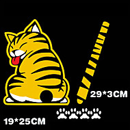 3D Car Stickers Funny Cat Moving Tail Stickers Reflective Car Styling Windshield Wiper Decals Rear Windshi car accessories