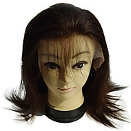 full lace wig human hair virgin good quality straight 8inch for women