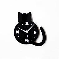 Modern Creative Lovely Cat Footprints Mute Wall Clock