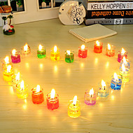 A Set Of 24 Candles Holiday Romantic Home Decoration