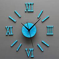 מודרני / עכשווי רטרו חופשה מעורר השראה סרט מצויר משפחה שעון קיר,עגול מצחיק אקרילי זכוכית מתכת 50 בבית/ בטבע שָׁעוֹן