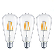 3 adet-7w e26 / e27 ledli filament ampuller 8cob 720lm sıcak beyaz / soğuk beyaz kısılabilir ac 110-240v