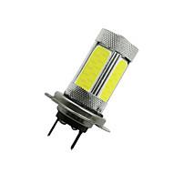 2pcs 6000k alta potência H7 cob levou nevoeiro condução lâmpada luz da lâmpada do farol 12-24V branco