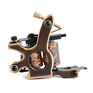 Solong Tattoo Custom Brass Tattoo Machine Gun Handmade 12 Wrap Pure Copper Coils for Shader M204-2