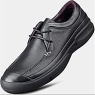 גברים-נעלי ספורט-עור-נוחות-שחור כחול-יומיומי