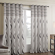 Two Panels Curtain Baroque Bedroom Polyester Material Curtains Drapes Home Decoration For Window