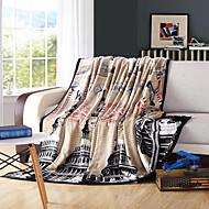 """Flanela Como na Imagem Floral / Botânico 100% Poliéster cobertoresW79""""×L91""""(W200 x L230cm)/ W70""""×L79""""(W180 x L200cm)/ W59""""×L79""""(W150 x"""