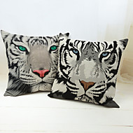 1 pcs Linen Novelty Pillow,Animal Print Traditional/Classic